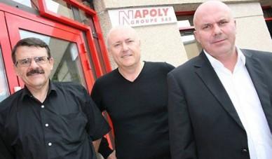 Bruno Napoly (Directeur Technique et Achat), Erik Napoly (Directeur Général) et Stéphane Napoly (Président)